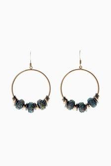 Bead Effect Hoop Earrings