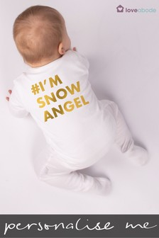 Personalised Snow Angel Sleepsuit by Loveabode