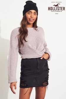 Hollister Lilac Tie Front Jumper
