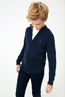 Smart Zip Through Cardigan (3-16yrs)