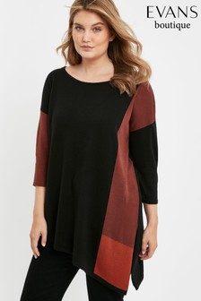 Evans Curve Black Asymmetric Jumper
