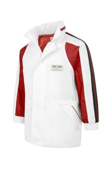 Boys White Lightweight Trim Jacket