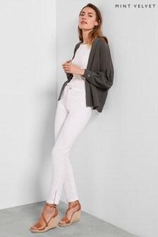 Mint Velvet White Houston White Cropped Jeans
