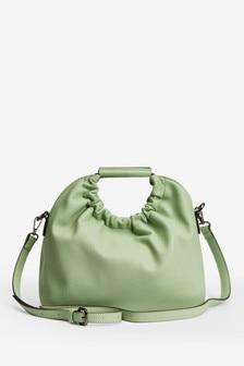 Gathered Handle Tote Bag