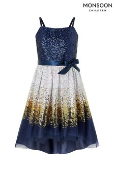 Monsoon Blue Madeline Ombre Prom Dress