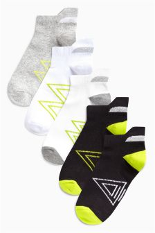 Sports Trainer Socks Five Pack (Older)
