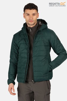 Regatta Green Helfa Insulated Baffle Jacket
