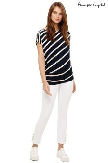 Phase Eight White Billie Button Hem Jean