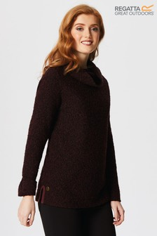 Regatta Red Quenby Cowl Neck Jumper