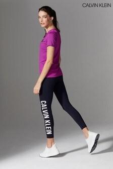 Calvin Klein Performance Blue Logo Tights