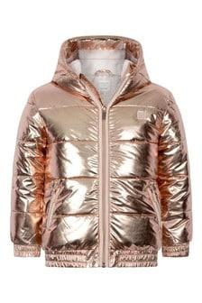 Girls Copper Padded Jacket
