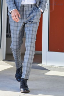 Bi-Stretch Check Suit: Trousers