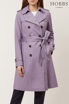 Hobbs Purple Saskia Trench Coat