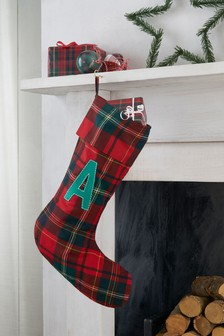 initial tartan stocking - Christmas Decorations For Stockings