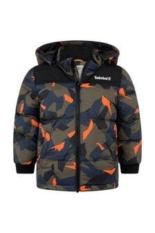 Boys Camouflage Print Padded Jacket