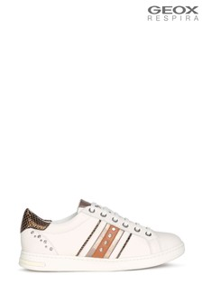 Geox Women's Jaysen Off White/Brown Shoes