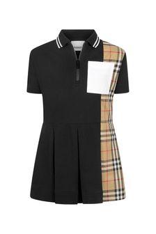 Burberry Kids Girls Black Cotton Dress