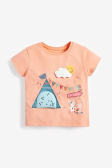 Festival Scene Interactive Appliqué T-Shirt (3mths-8yrs)
