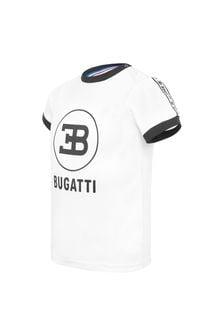 Bugatti Baby White Cotton T-Shirt