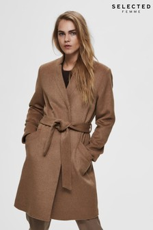 Selected Femme Wrap Overcoat