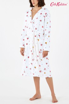 Cath Kidston® White Wimbourne Rose Towelling Robe