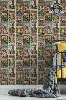 Art For The Home Multi Marvel Action Heroes Wallpaper