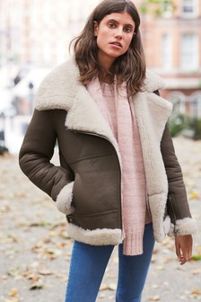 Real Shearling Aviator Jacket