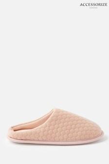 Accessorize Pink Bubble Stitch Slippers