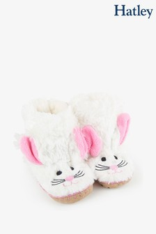Hatley Kids White Bunny Slippers