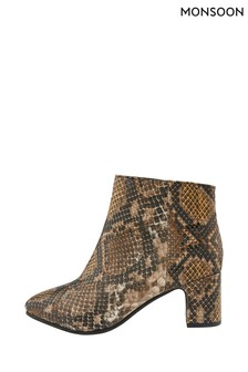 Monsoon Multi Selena Snake Ankle Boots