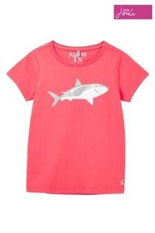 Joules Pink Shark Pixie Screenprint T-Shirt