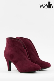 Wallis Amuse Mulberry Elastic Gusset Shoeboots