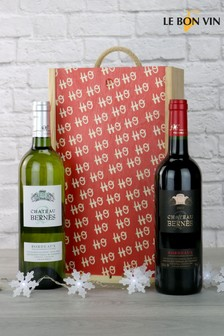 BordHo Ho Ho Christmas Wine Gift Set by Le Bon Vin