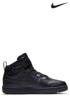 נעלי ספורטCourt Borough Hi Junior שחורות של Nike