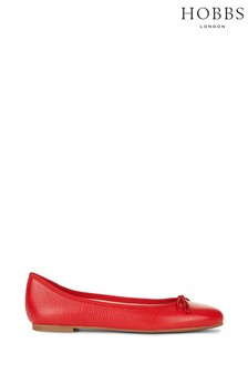 Hobbs Red Flo Ballerinas