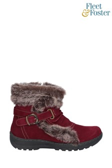 Fleet & Foster Red Ginny Ankle Boots
