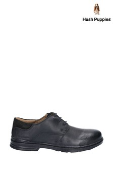 Hush Puppies Black Max Hanston Classic Lace-Up Dress Shoes