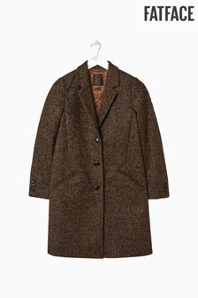 FatFace Brown Moons Wool Coat