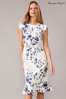 Phase Eight Cream Tori Printed Dress