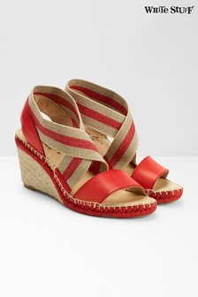 White Stuff Red Penny Espadrille Wedge