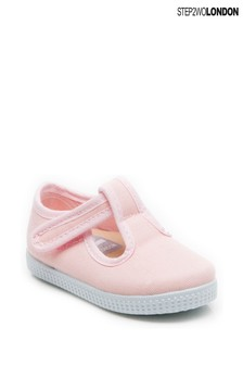 Step2wo Pink Mitch 2 Canvas T-Bar Shoes