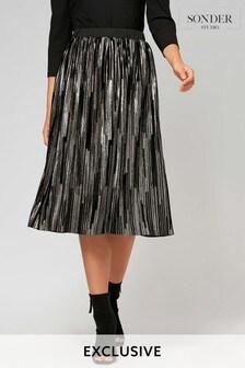 Sonder Gold Lurex Midi Skirt
