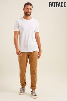 FatFace Yellow Modern Coastal Chinos