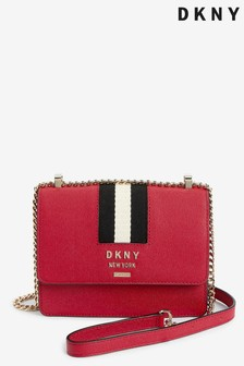 DKNY Red Leather Liza Small Shoulder Bag