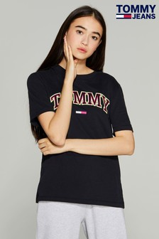 Tommy Jeans Black Collegiate T-Shirt