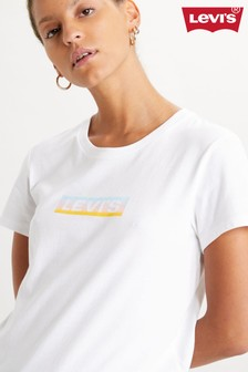 Levi's® White Rainbow Box Tab Perfect T-Shirt