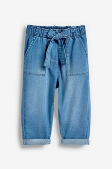 Pull-On Tie Waist Trousers (3mths-7yrs)