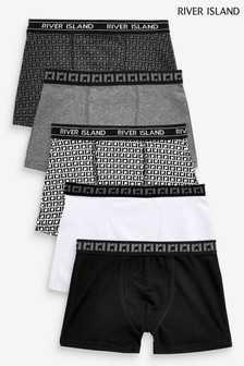 River Island Monogram Underwear Pack