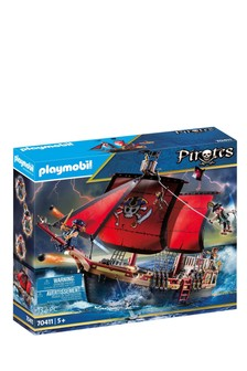 Playmobil® 70411 Pirates Large Floating Pirate Ship With Cannon