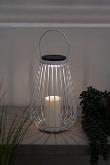 White Wire Solar Lantern